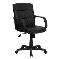 Flash Furniture Mid Back Office Chair in Black with Arms