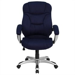 Flash Furniture High Back Microfiber Upholstered Office Chair in Navy