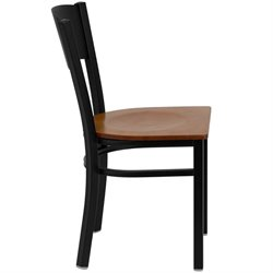 Circle Back Metal Dining Chair in Cherry