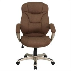 High Back Upholstered Office Chair in Brown
