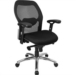 Flash Furniture Mid-Back Super Mesh Office Chair in Black