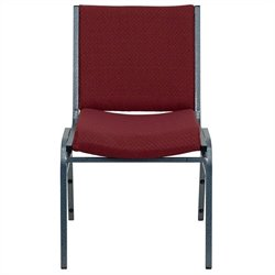 Flash Furniture Hercules Series Upholstered Stack Chair in Burgundy