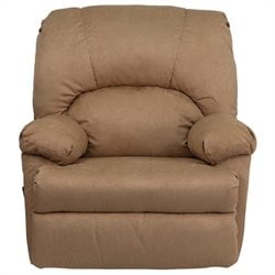 Flash Furniture Contemporary Montana Rocker Recliner in Latte