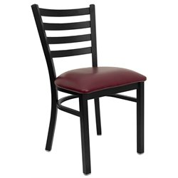 Flash Furniture Hercules Series Ladder Back Metal Chair in Burgundy