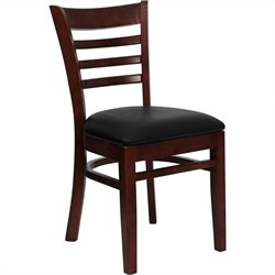 Flash Furniture Hercules Series Ladder Back Dining Chair in Mahogany