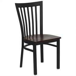 Flash Furniture Hercules Series Black Back Metal Chair in Mahogany