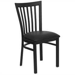 Flash Furniture Hercules School House Back Metal Dining Chair in Black