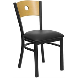 Flash Furniture Hercules Series Circle Back Metal Chair in Natural