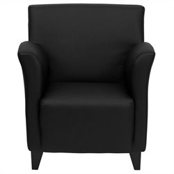 Flash Furniture Hercules Roman Series Reception Chair in Black
