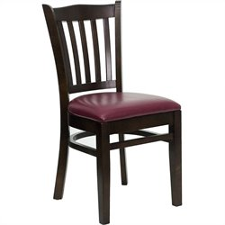 Flash Furniture Hercules Restaurant Dining Chair with Burgundy Seat