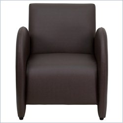 Flash Furniture Hercules Patrician Series Reception Chair in Brown