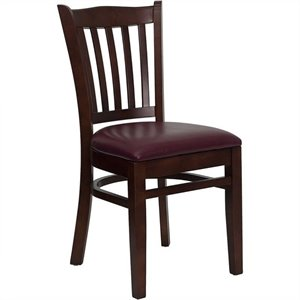 Vertical Slat Back Dining Chair in Mahogany