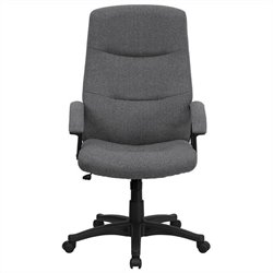 Flash Furniture High Back Swivel Office Chair in Gray