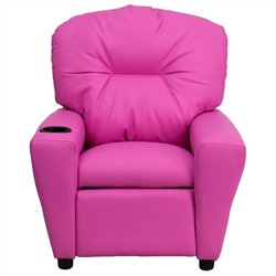 Flash Furniture Contemporary Kids Recliner in Pink