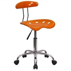 Office Chair in Orange and Chrome