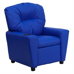 Flash Furniture Contemporary Kids Recliner in Blue with Cup Holder