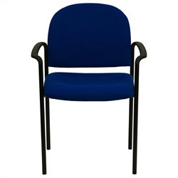 Flash Furniture Stackable Side Chair in Navy Blue