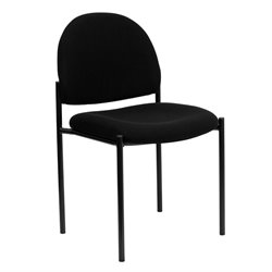 Flash Furniture Stacking Side Stacking Chair in Black