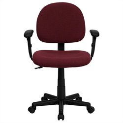 Flash Furniture Ergonomic Office Chair in Burgundy