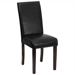 Upholstered Parsons Dining Chair in Black