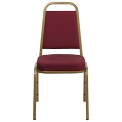 Stacking Banquet Stacking Chair in Burgundy