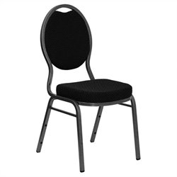 Teardrop Back Stacking Chair with in Black