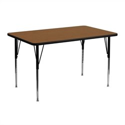 Flash Furniture Rectangular Activity Table in Oak - 25.25