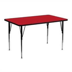 Flash Furniture Rectangular Activity Table in Red - 25.25