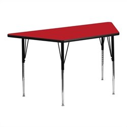 Flash Furniture Trapezoid Activity Table in Red - 25.25