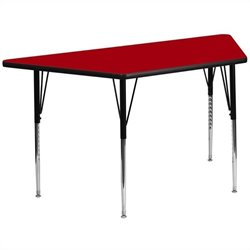 Flash Furniture Trapeziod Activity Table in Red - 25.13