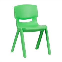 Flash Furniture Plastic Stackable School Chair in Green - 23