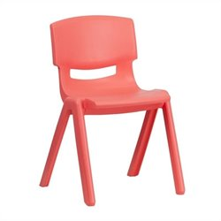 Flash Furniture Plastic Stackable School Chair in Red - 23