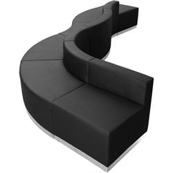 Flash Furniture Hercules Alon 6 Piece Reception Seating in Black