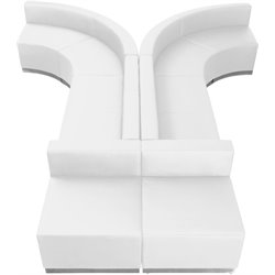 Flash Furniture Hercules Alon Series 8-Piece Reception Configuration in White