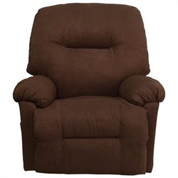 Flash Furniture Contemporary Calcutta Chaise Recliner in Chocolate