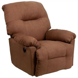 Flash Furniture Contemporary Power Chaise Recliner in Camel
