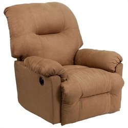 Flash Furniture Contemporary Calcutta Power Chaise Recliner in Camel