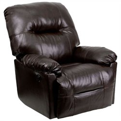 Flash Furniture Contemporary Bentley Chaise Power Recliner in Brown