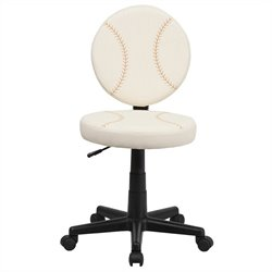 Flash Furniture Baseball Task Chair in Cream