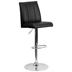 Flash Furniture Adjustable Bar Stool in Black
