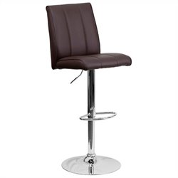 Adjustable Bar Stool in Brown