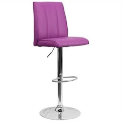 Flash Furniture Adjustable Bar Stool in Purple