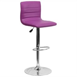 Flash Furniture Striped Bar Stool in Purple