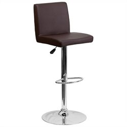 Flash Furniture Contemporary Bar Stool in Brown