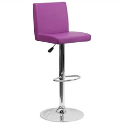 Flash Furniture Contemporary Bar Stool in Purple