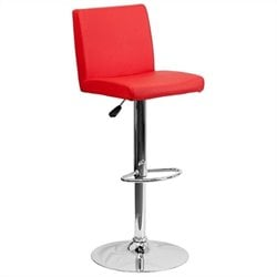 Flash Furniture Contemporary Bar Stool in Red