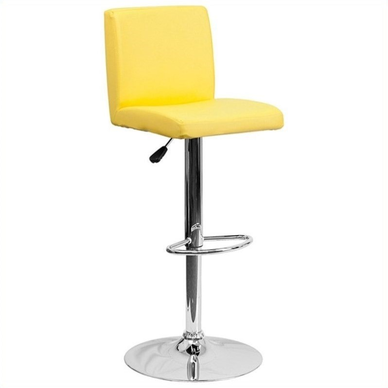 Contemporary Bar Stool in Yellow