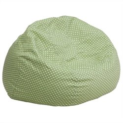 Flash Furniture Oversized Dotted Bean Bag Chair in Green