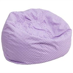 Flash Furniture Oversized Dotted Bean Bag Chair in Lavender
