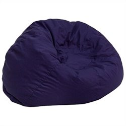 Oversized Solid Bean Bag Chair in Navy Blue